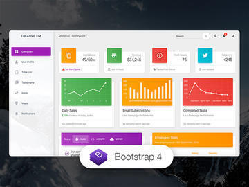 Material Dashboard HTML
