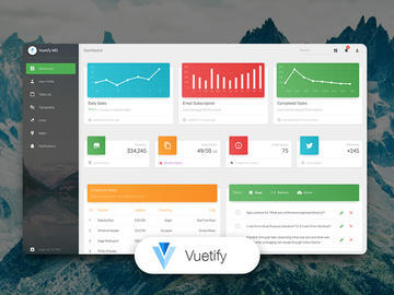 Vuetify Material Dashboard