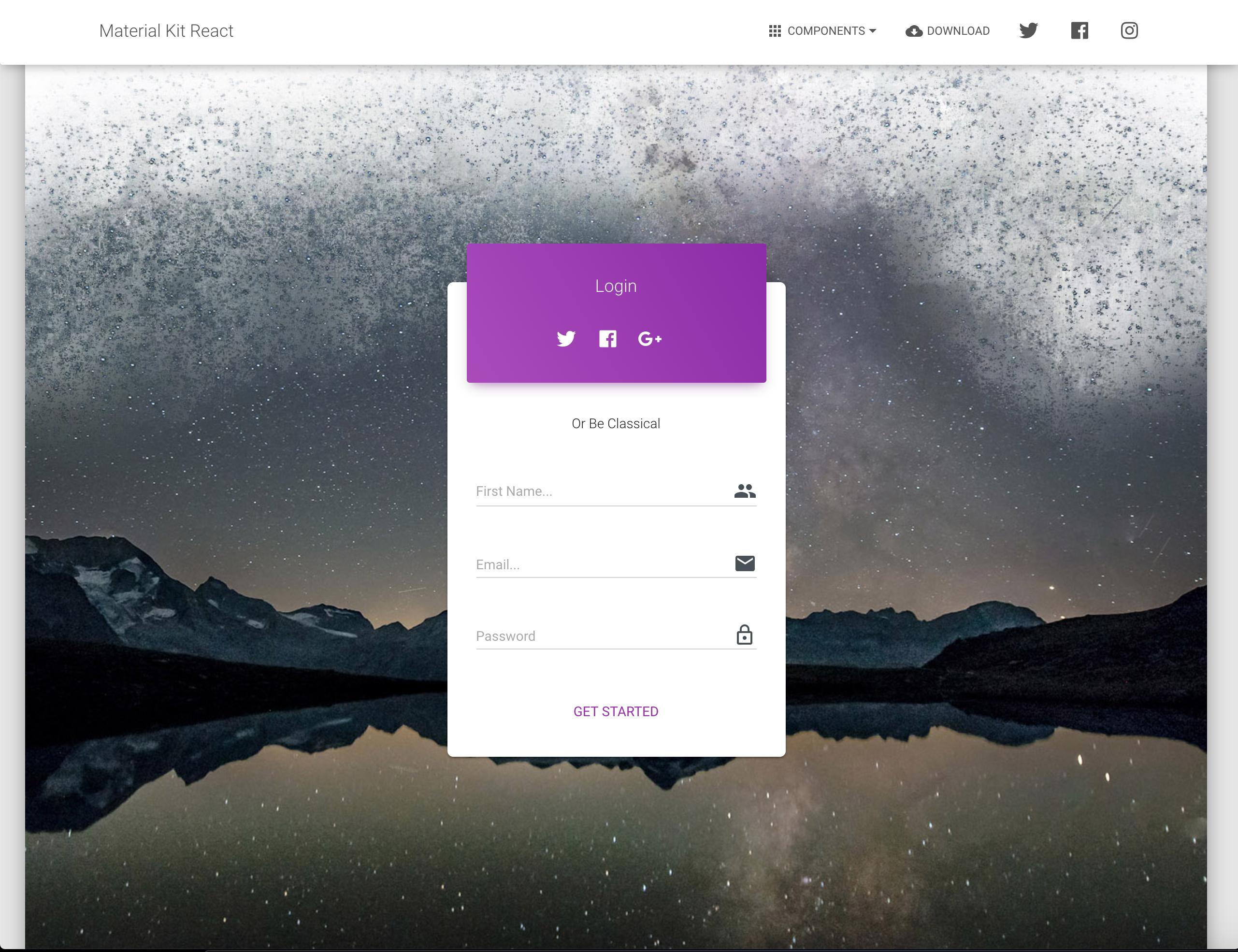 GitHub - creativetimofficial/material-kit-react: Material