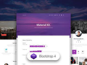 Material Kit HTML