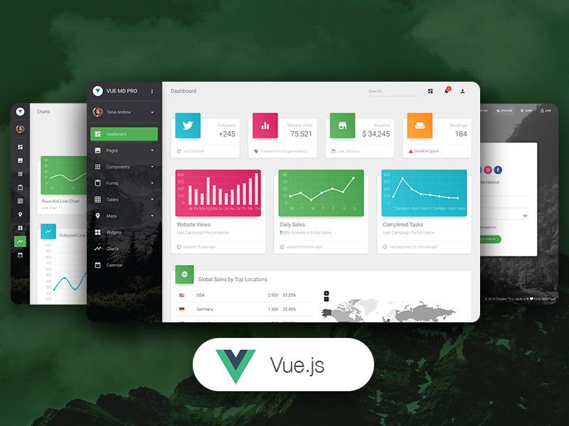 Vue Material Dashboard Pro - Premium Vue.js Admin Template