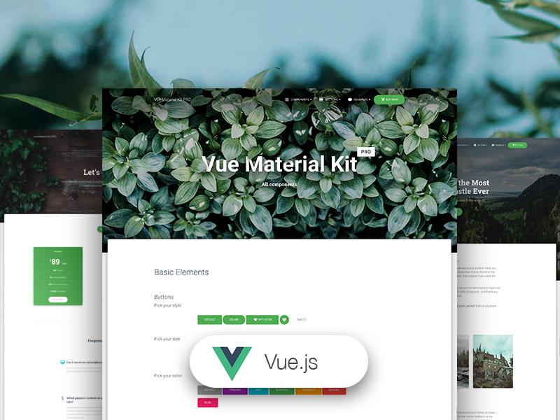 Vue Material Kit Pro - Premium Vue.js UI Kit