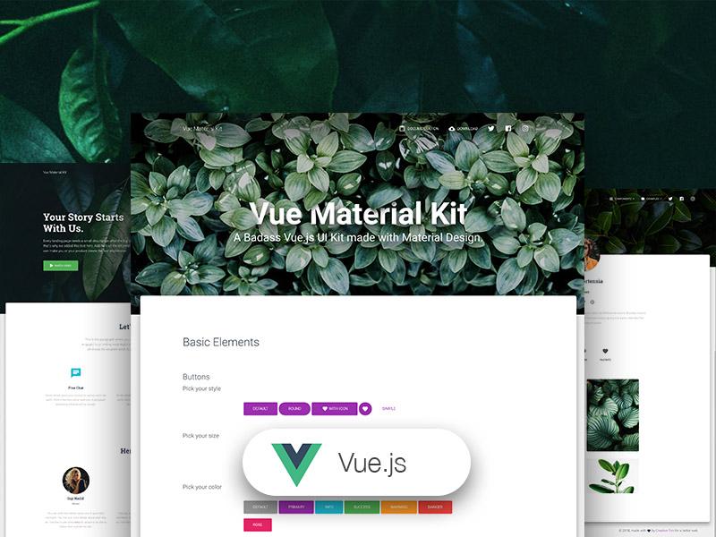 Vue Material Kit - Free Vue.js UI Kit