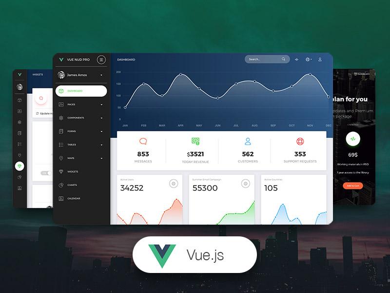 Vue Now UI Dashboard Pro - Premium Vue.js Admin Template