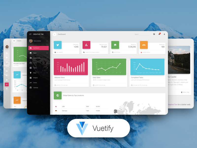 Vuetify Material Dashboard PRO
