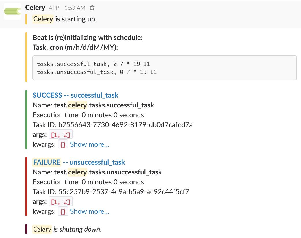 GitHub - crflynn/celery-slack: A Slack messaging extension for Celery