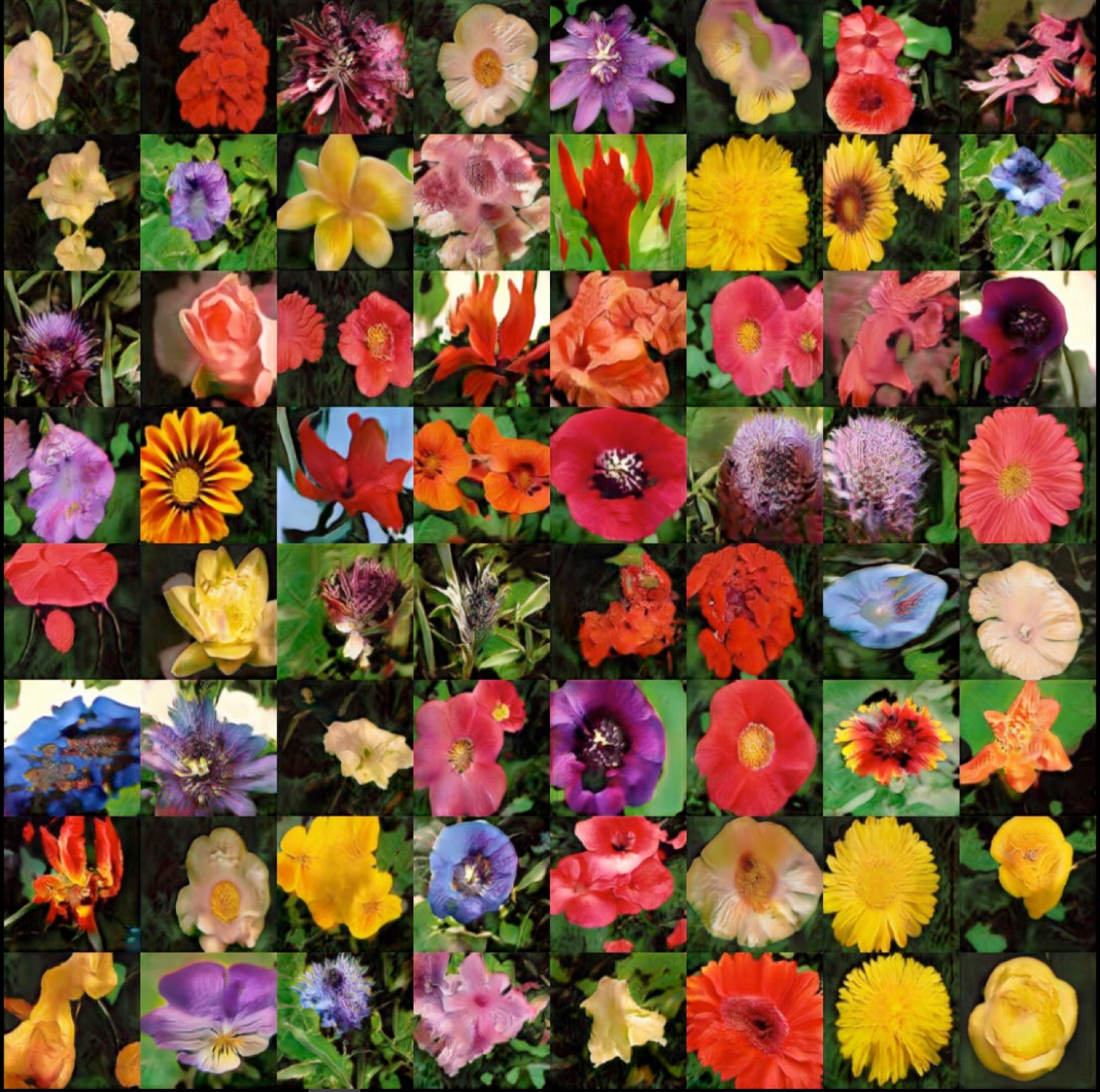 Sample from the flowers dataset