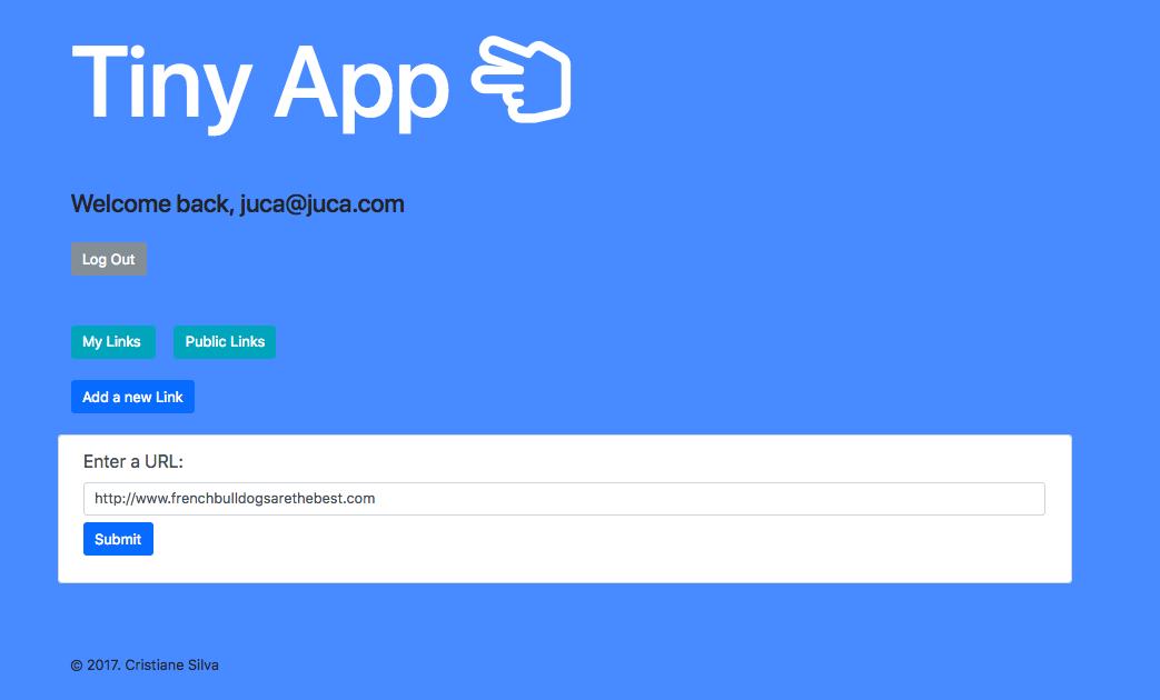 """""""Screenshot of a new link"""