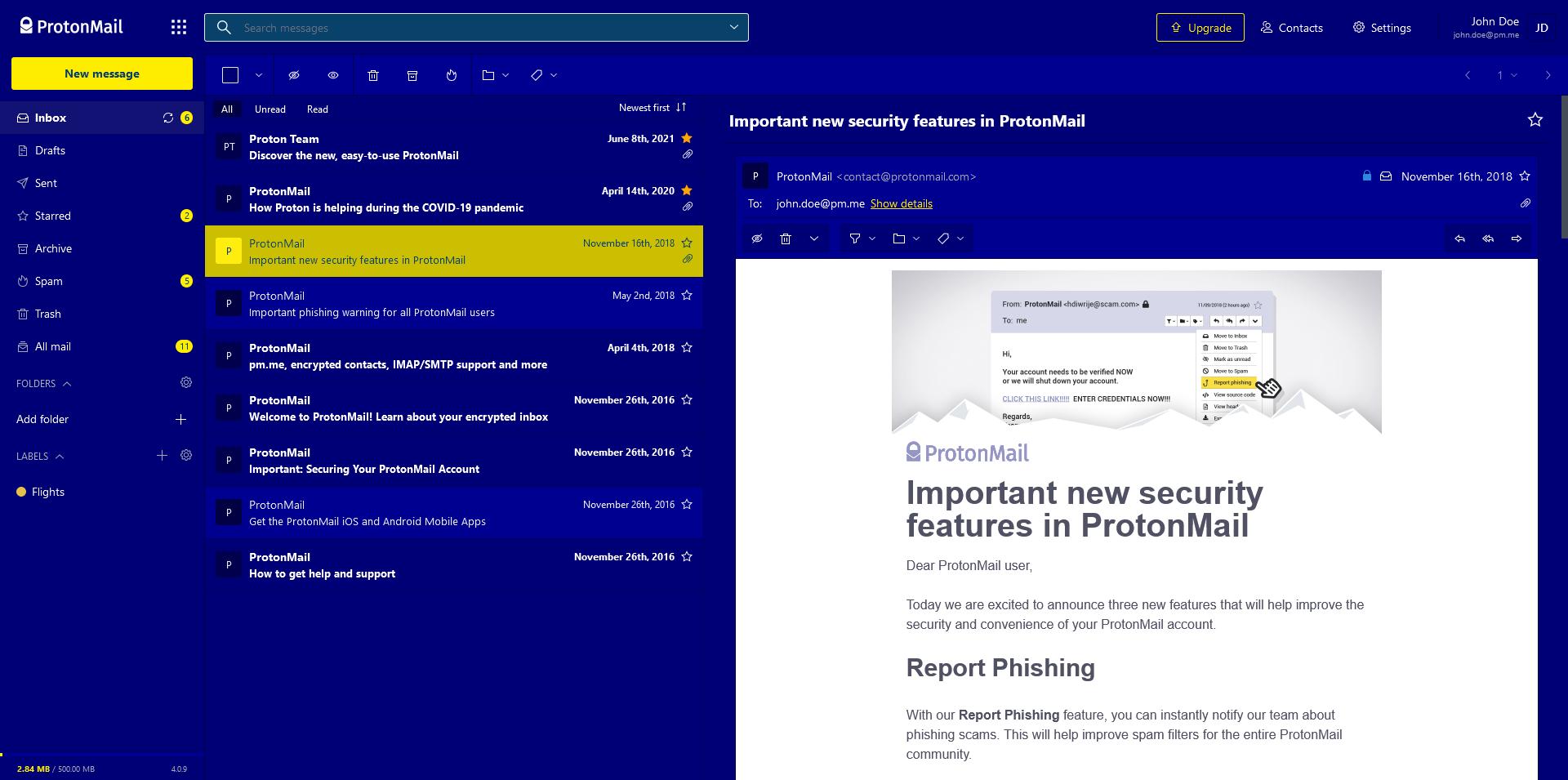 Screenshot of Deutera One theme.