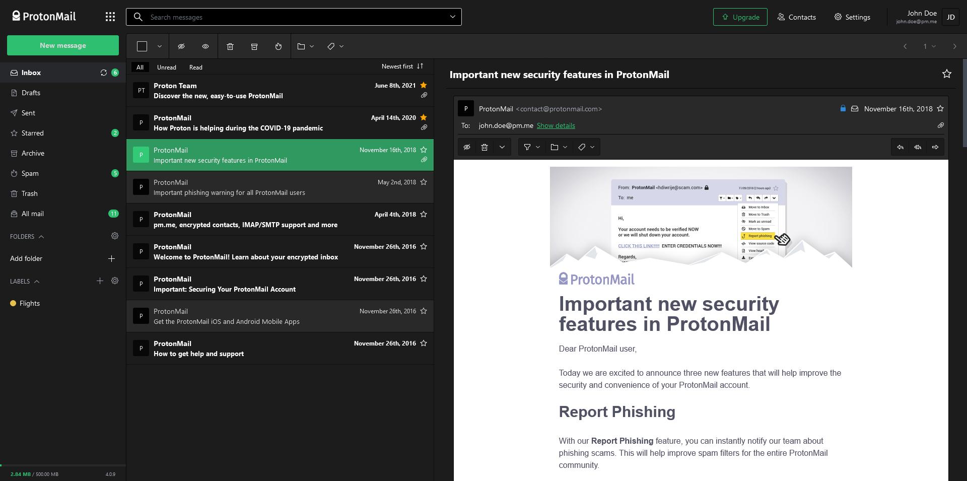 Screenshot of Green Lume theme.