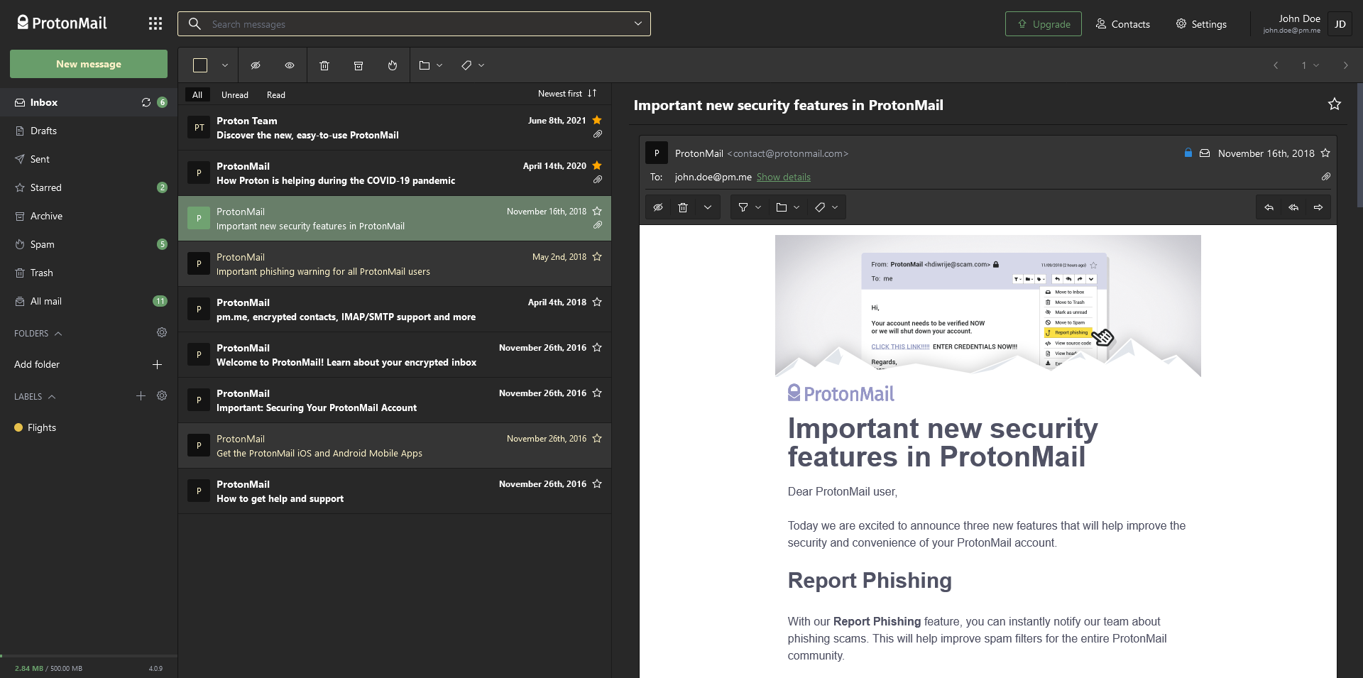 Screenshot of Gruvbox theme.