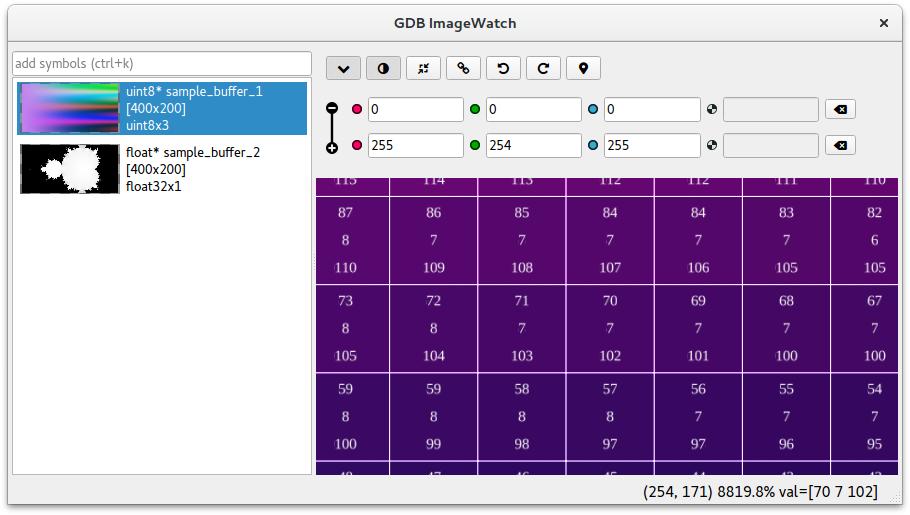 GDB ImageWatch example