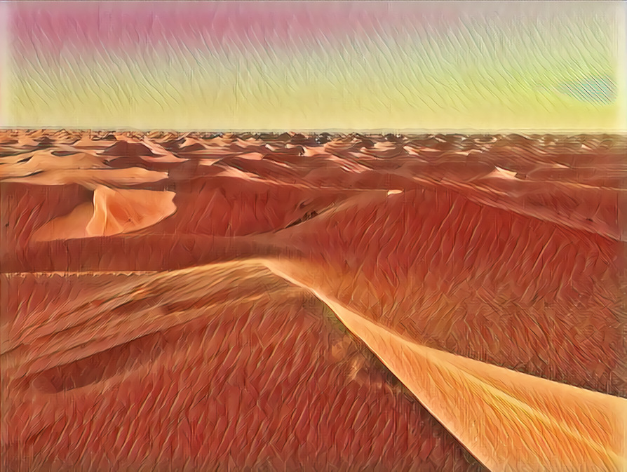 A Desert in painters perception