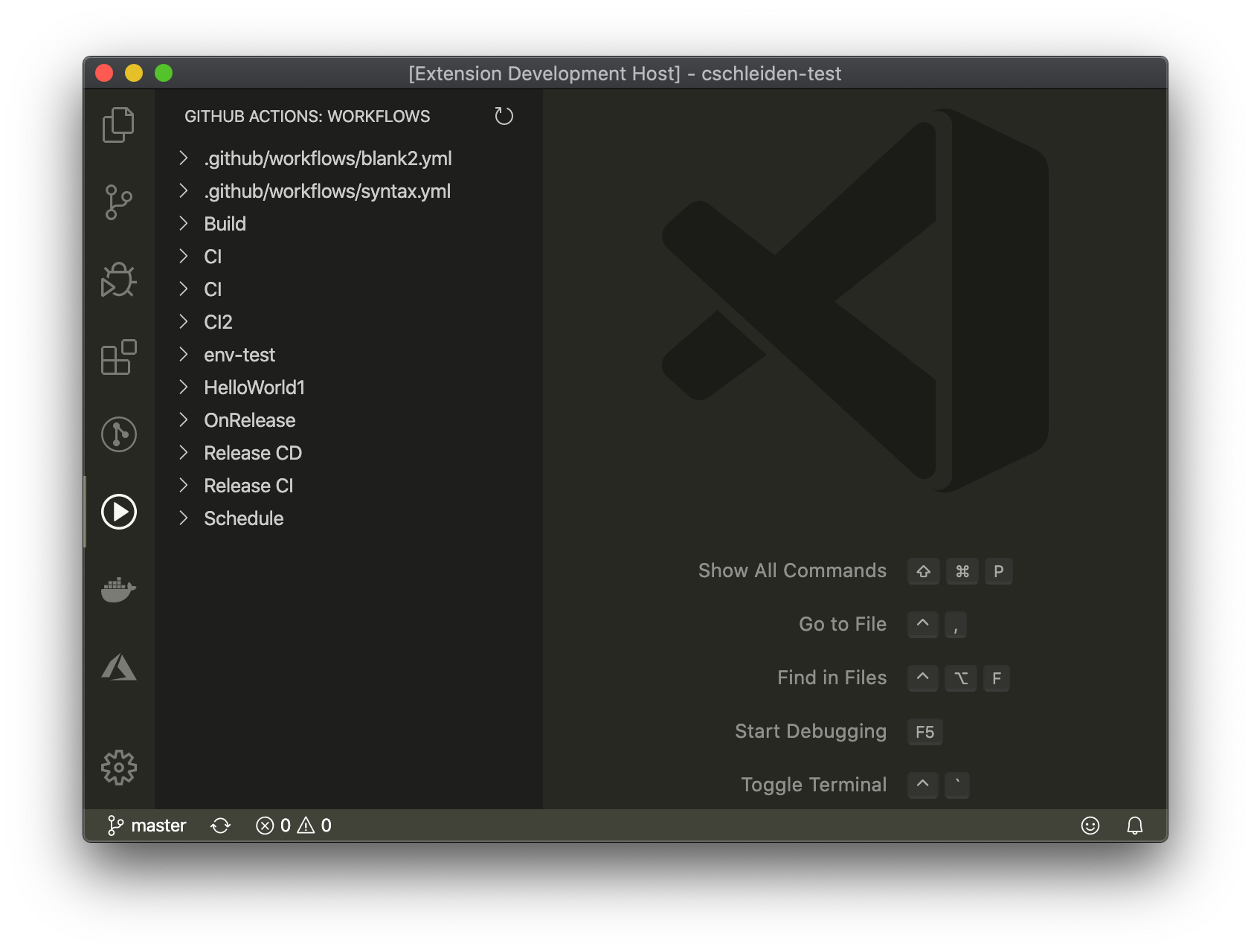 See workflows and runs for the current repository