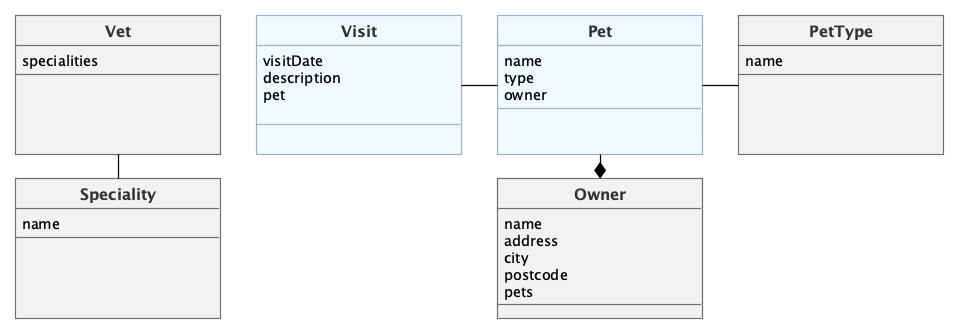 CUBA Petclinic Domain model