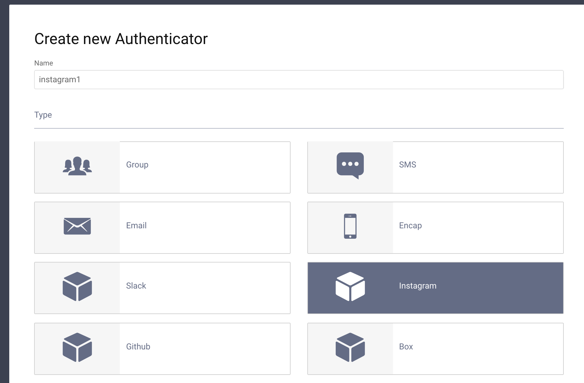 docs/images/instagram-authenticator-type-in-curity.png