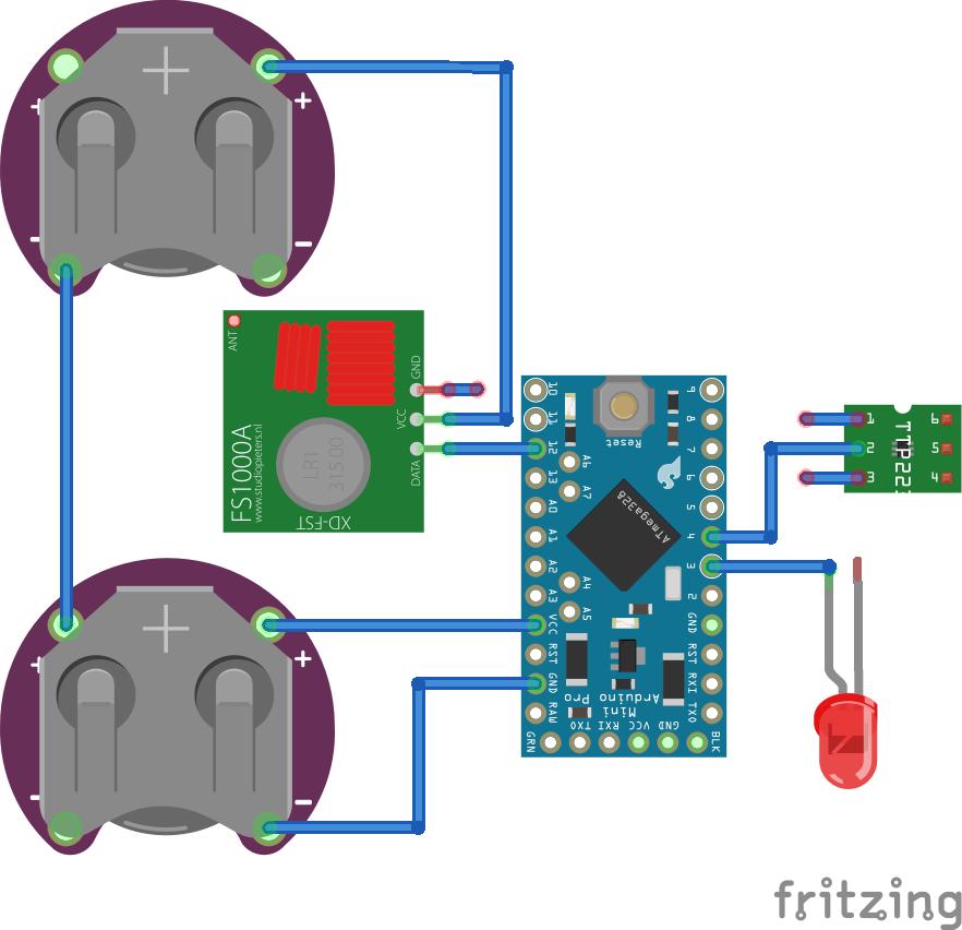 Схема сенсорного дистанционного выключателя