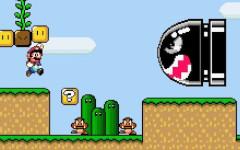 Super Mario World Banzai Bill and Goombas