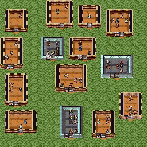 village with NPCs