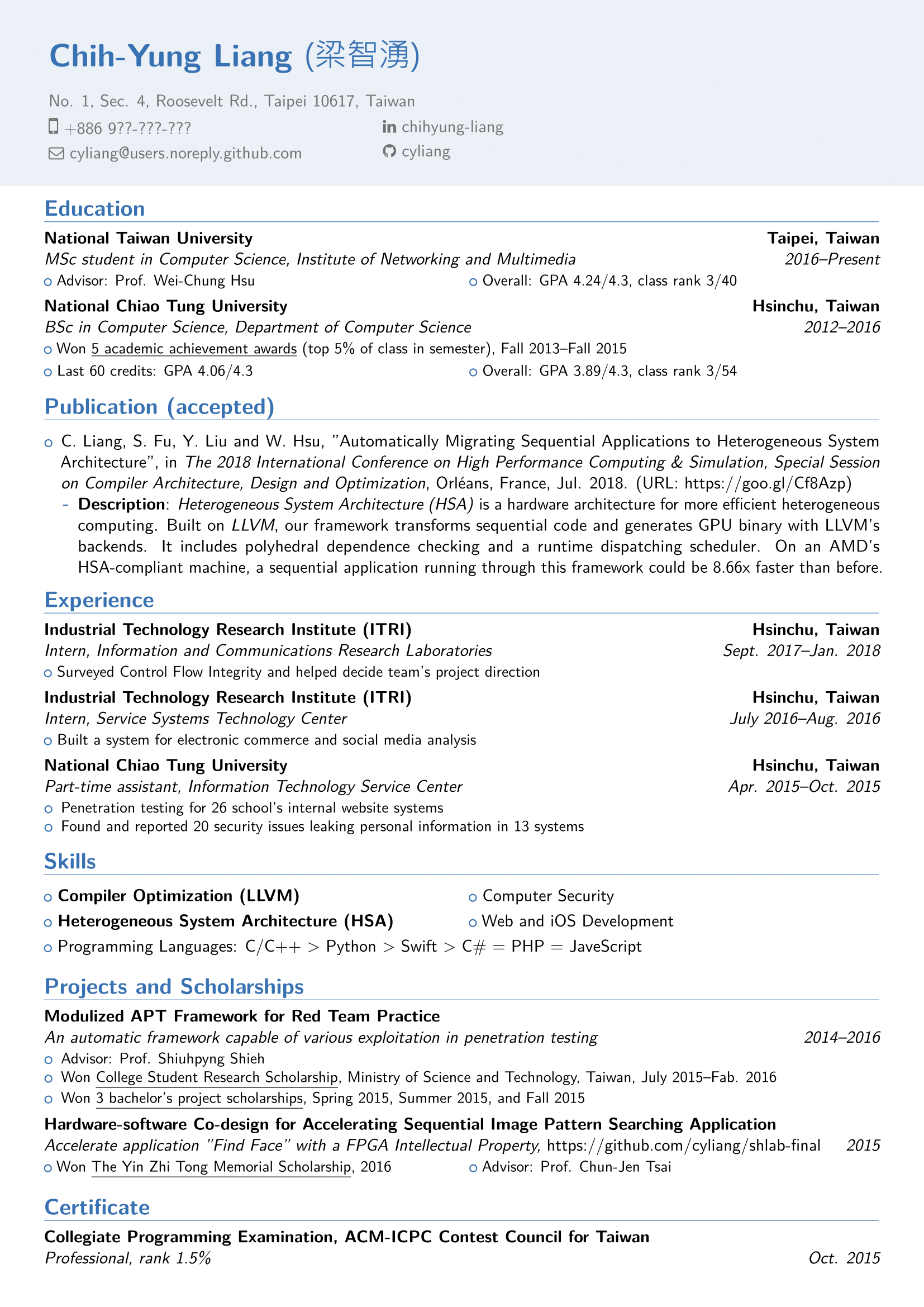github  resume  my personal resume based on