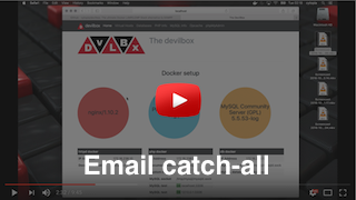 Devilbox email catch-all