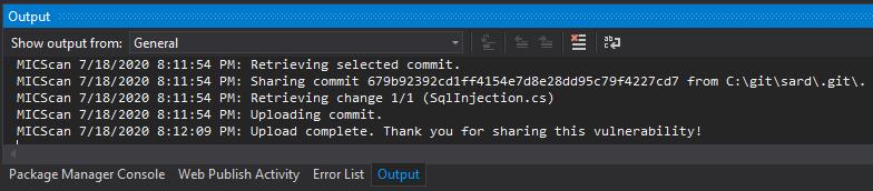 Share Vulnerability Output