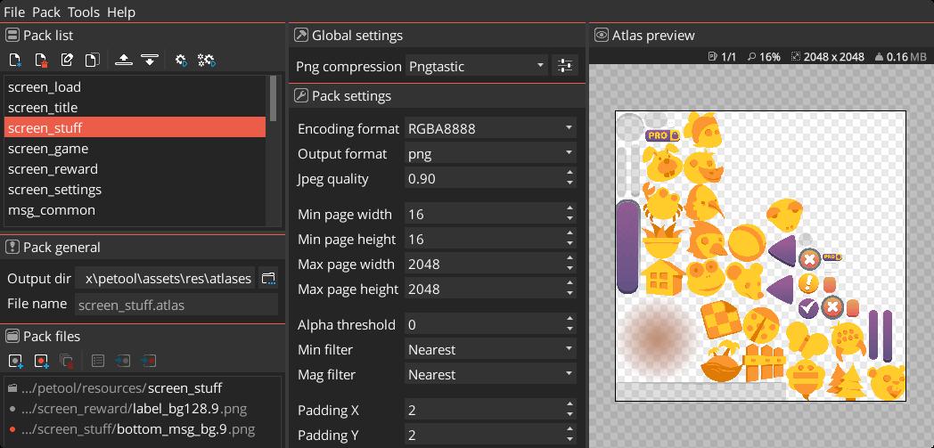 LibGDX Texture Packer GUI