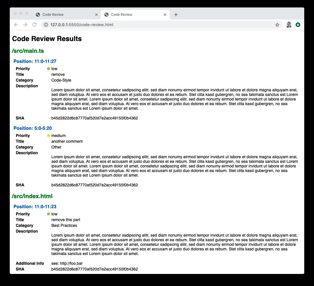 Code Review HTML Export: Default Template