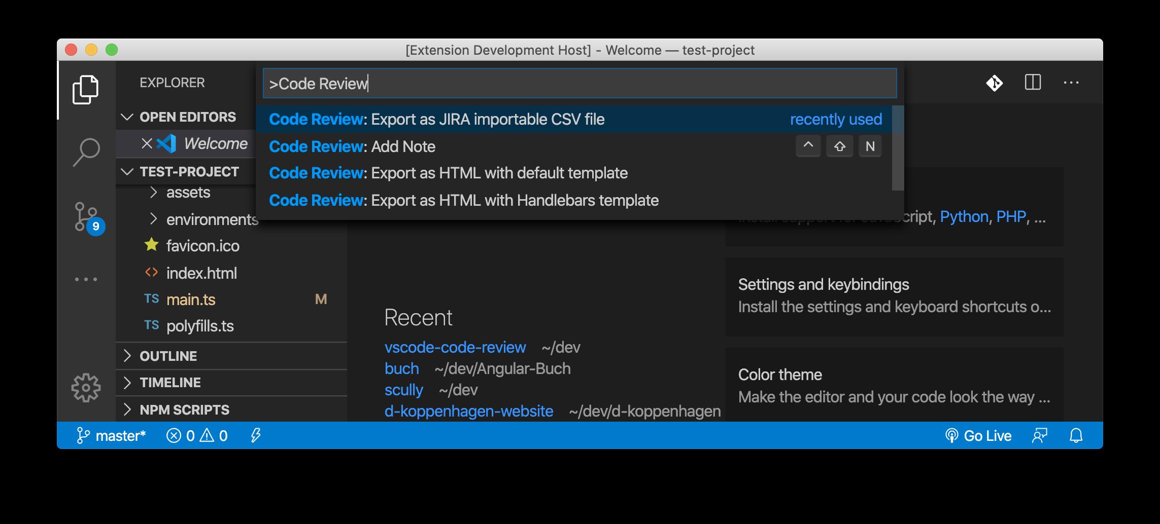Code Review JIRA importable CSV export