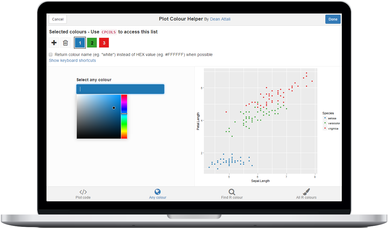 Plot Colour Helper – Finally an easy way to pick colours for your R plots!