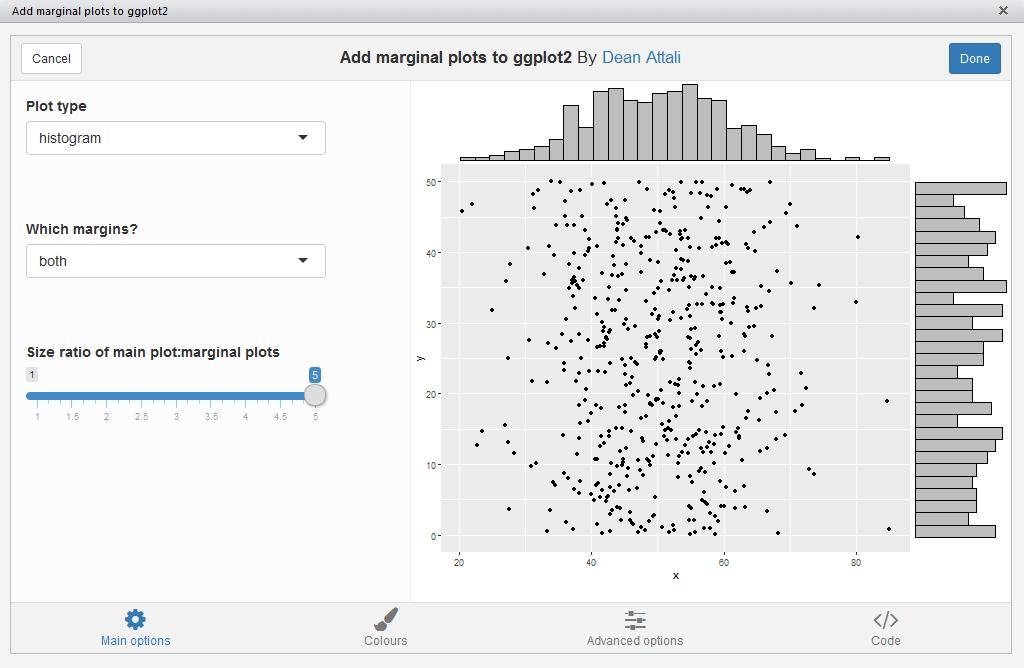 ggMarginal gadget screenshot