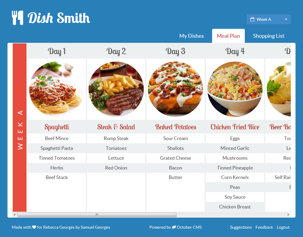 GitHub - daftspunk/dishsmith: DishSmith is a meal planner created at