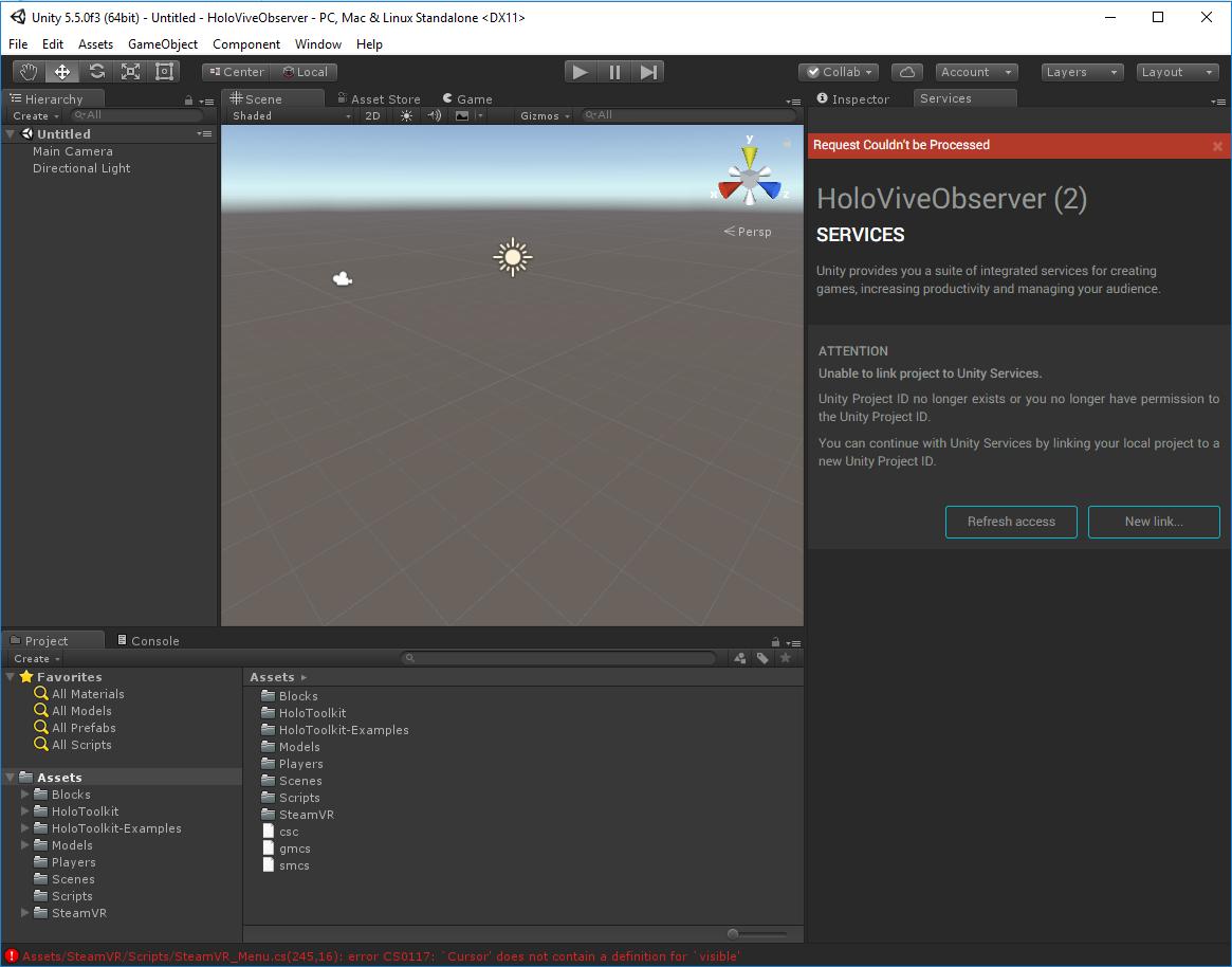 HoloLens Build Settings
