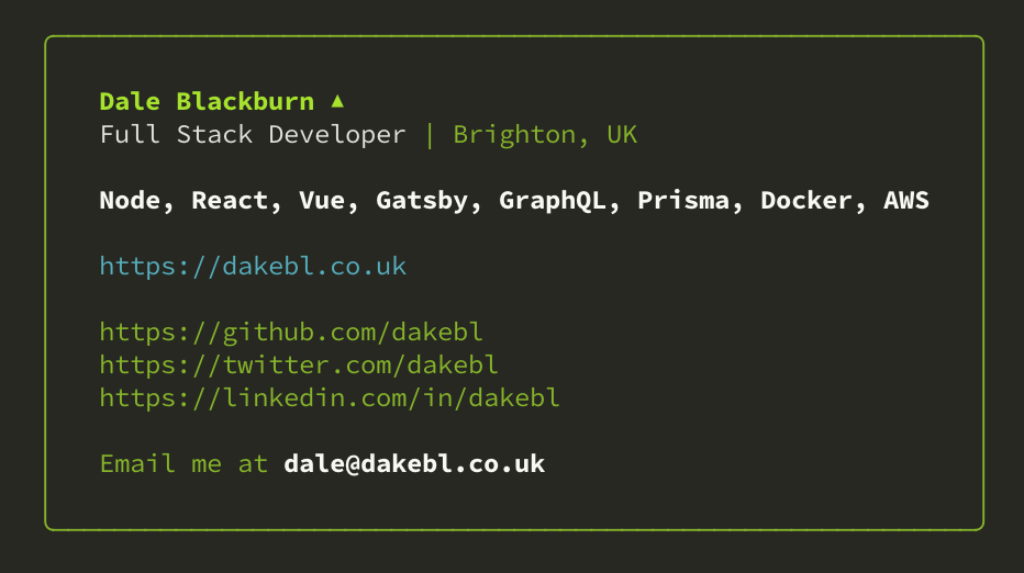 Preview of npx dakebl command output