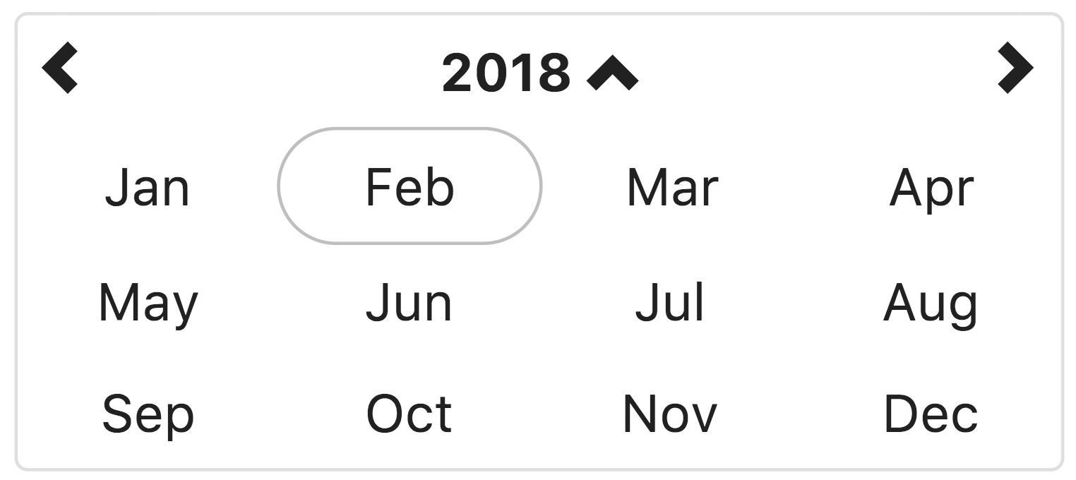 Datetimepicker month view