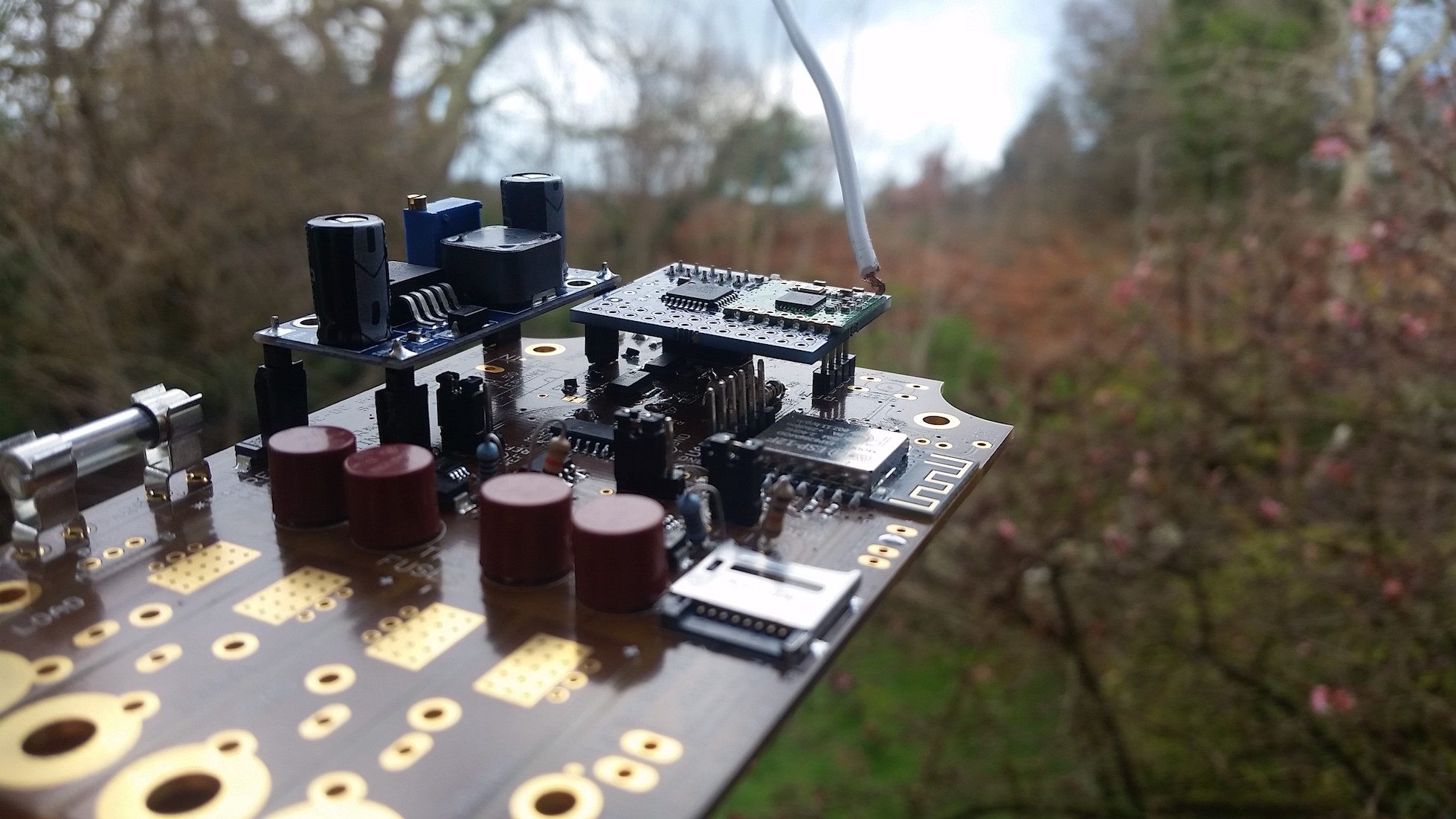 The board sets sail with a RFM69Pi module