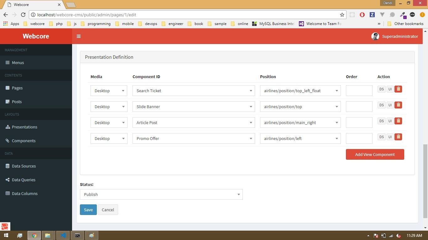 Webcore Page Presentation