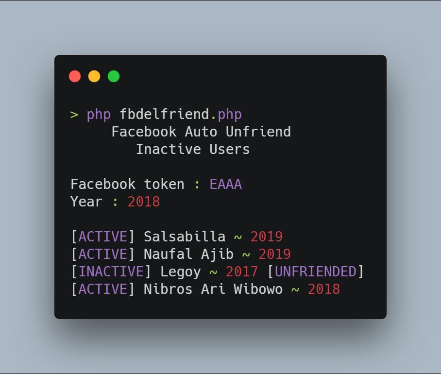 Cara Cepat Unfriend teman FB yang tidak akif di Termux