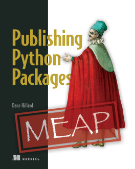 Publishing Python Packages, a Manning book by Dane Hillard