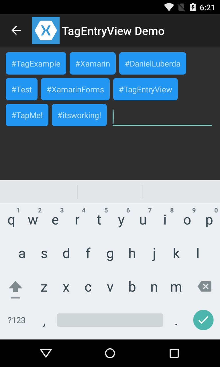 Creating a list of Tags — Xamarin Community Forums