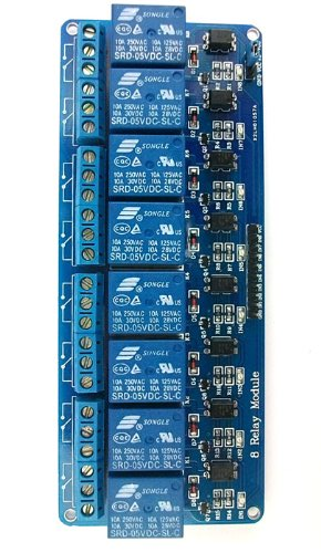 Eight channel relay board