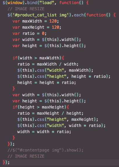 JavaScript example