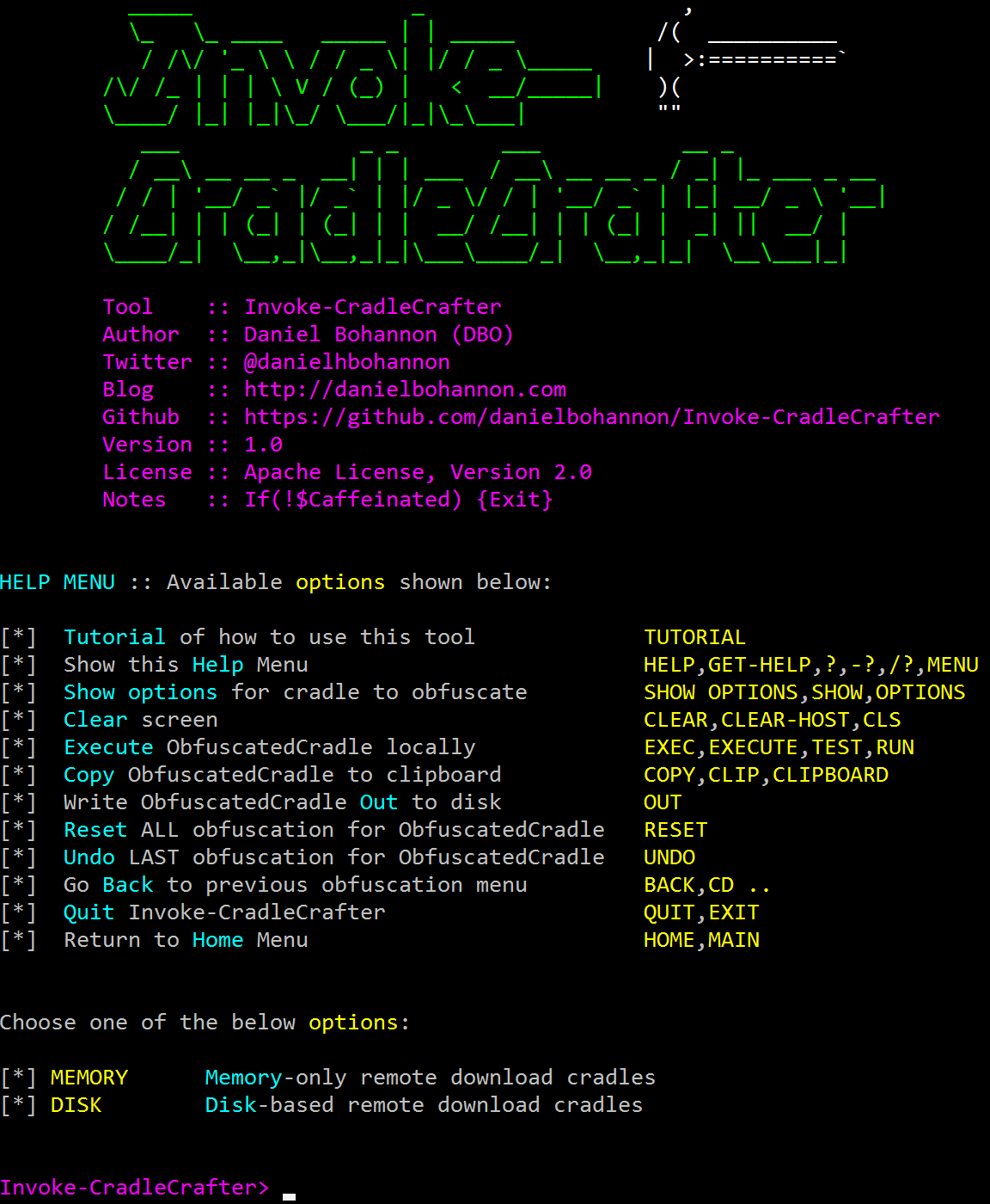 Invoke-CradleCrafter Screenshot