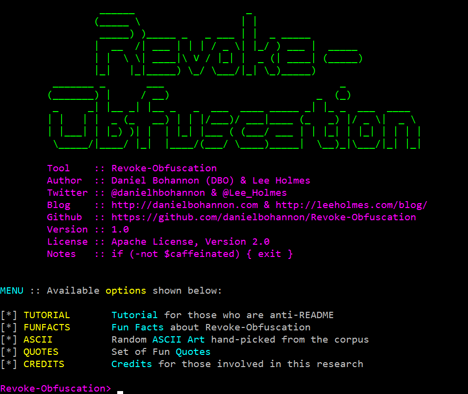 Revoke-Obfuscation Screenshot