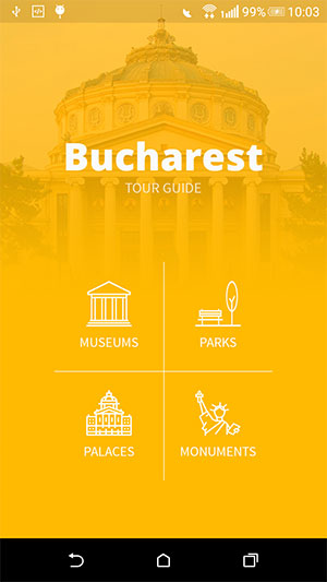Tour Guide App Main Screen