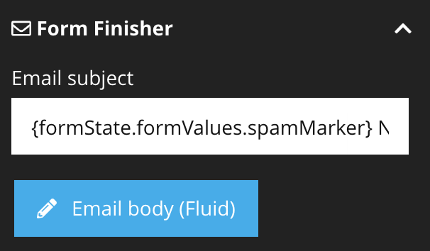 Use the spam marker in email header