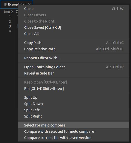 Editor context menu