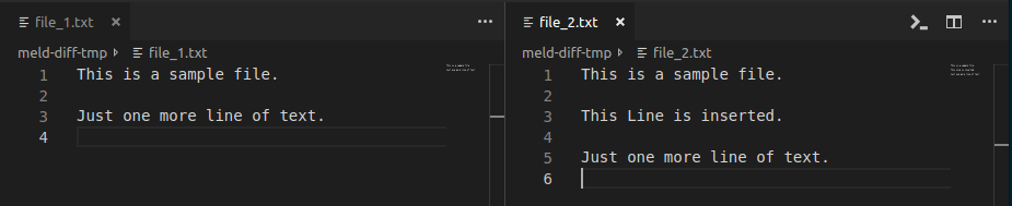 Compare side by side files