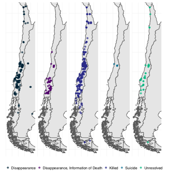 """""""Spatial variation in human rights abuses in the Pinochet regime, 1973-1990"""""""