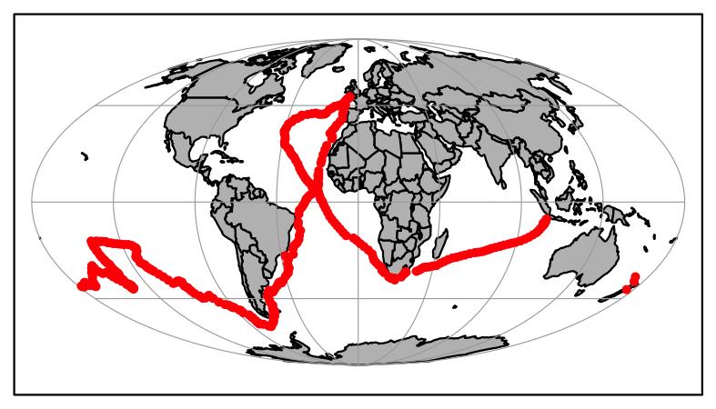 Sample map plot.